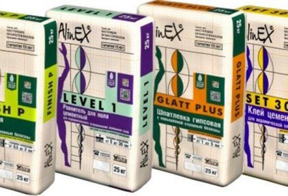 Строительные смеси AlinEX
