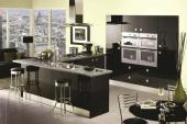 Дизайн кухни черного цвета